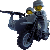 Image of BMW R75 oldalkocsival MG42-es géppuskával